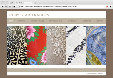Ruby Star Traders' Website